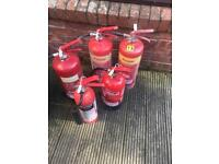 Fire extinguisher x5