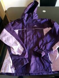 Trespass waterproof coat age 11/12