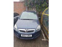 Vauxhall zafira 2007 in blue. 1.9 diesel. 7 seater.