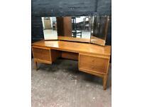 Beautiful quality mid century teak long dressing table