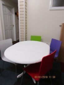 Drop leaf table & four dining chairs
