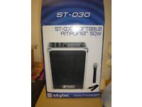 AS NEW SKYTEC KARAOKE MACHINE WITH NEW EXTRAS