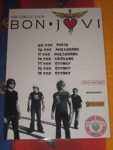 BON JOVI - THE CIRCLE  AUSTRALIAN  TOUR  -  PROMO TOUR POSTER