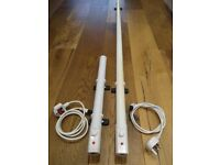 55W slimline tube tubular eco heater with thermostat - Great for greenhouse/shed/garage etc.