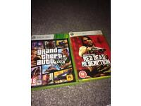 GTA V and red dead redemption Xbox 360