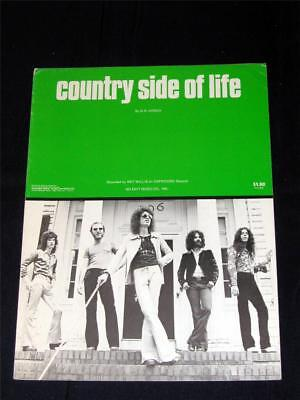 rock 1974 Wet willie  hit Country Side Of Life sheet music