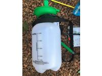 5l portable power sprayer bike, deck, pressure washer, car, paint.