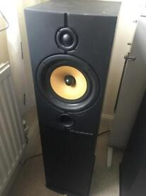 2x Pillar Wharfedale Speakers with Mission Centre Speaker