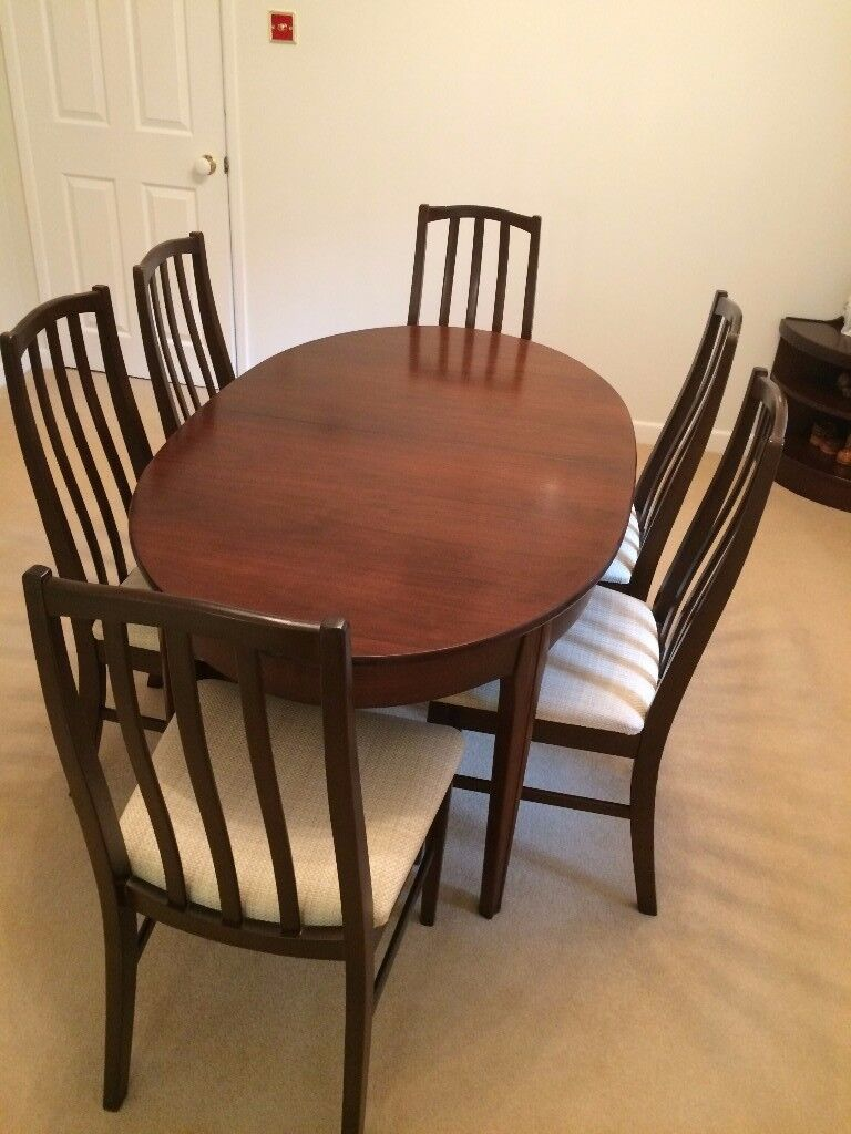 Furniture Dining Room Table 6 Chairs With 1 Display Cabinet Drinks