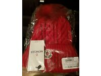 Moncler hats for sale 100% wool Red, Black or Navy 20 pounds each