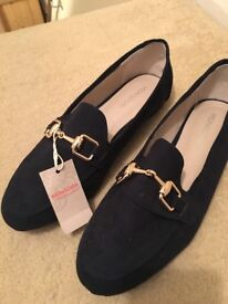 Blue Loafers, size 4 from Monsoon
