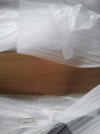 """Medium Lancaster oak 6"""" 150mm kitchen plinths/kick boards foil wrapped 2600mm continuous length"""