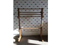 Large Pine Freestanding Towel Rail