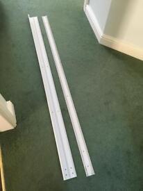 Sliding wardrobe door track