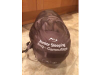 Junior Sleeping Bag - Camouflage - in carry sack/bag - vgc -£4