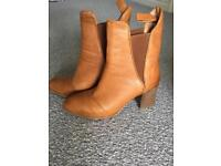 Brown,leather, size 3, ankle boots
