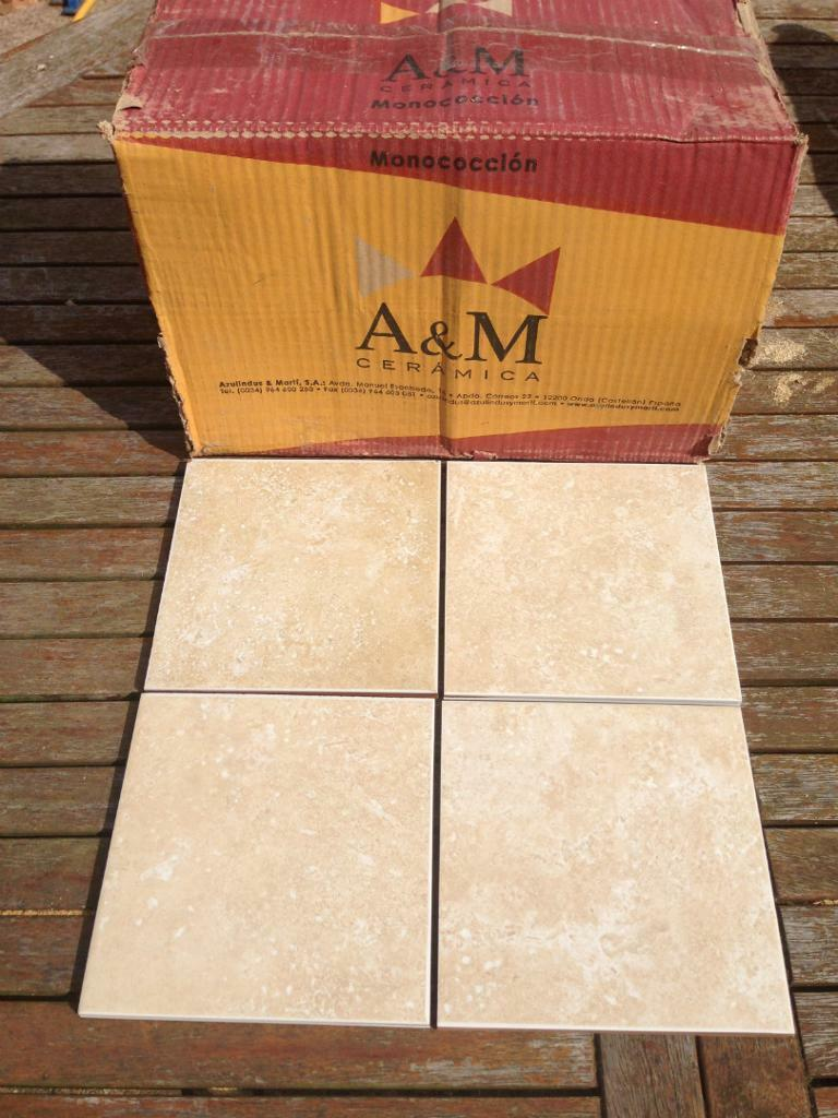 New, unopened box of tiles, 42 tiles, 100mm x 100mm, A&M Ceramica ...