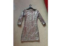 glamorous sliver sequin party dress