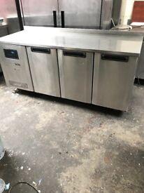 Commercial foster bench fridge, catering fridge