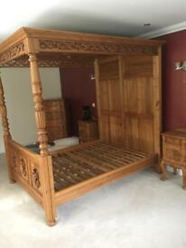 Pine reclaimed bedroom furniture