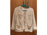 Sequin Cardigan - creamy color - Size 12UK