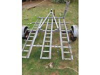 2 bike motorcycle trailer with center rail and corner posts for box.