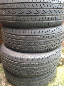 4 nearly new tyres 255 60 18 v112