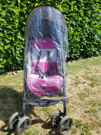 Joie Pink Pushchair with Sunhood and Raincover