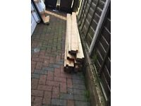 Wood fence/timber posts