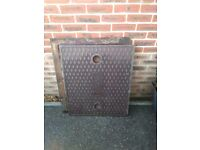 Manhole covours and frame for one