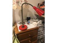 Red Ikea lamp