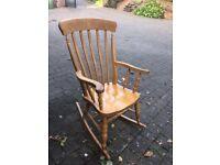 Light wood rocking chair - large sturdy