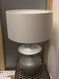 Large silver & grey lamp