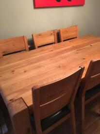 Wooden table with 6 chairs