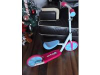 Rollers by Zinc R2 Balance Bike to Inline Scooter - Pink.