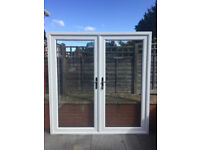 UPVC DOUBLE GLAZED FRENCH PATIO DOOR 201cm WIDE 210cm HIGH Can deliver