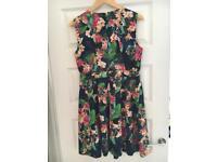 Karen Millen floral Skater Dress size 14
