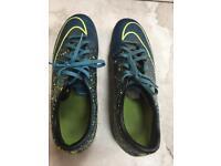 Mens/boys Blue Nike Mercurial Velocity UK size 9
