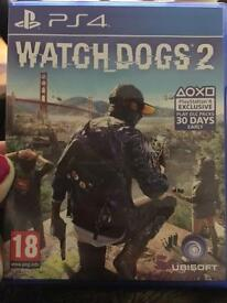 Watchdogs 2 PS4. Excellent Condition