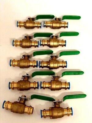 Lot Of 10 12 Propress Brass Ball Valves - Press Brass Ball Valve- Lead Free