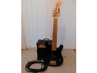 3/4 Size Electric Guitar with Amplifier and Lead