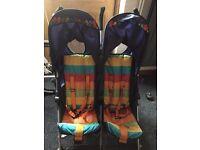 Cosatto double buggy/twin stroller - random rainbow (lightweight)