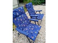 NEW GARDEN LOUNGER PADDED CHAIRS 2 OFF