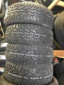 FOUR NEW 205 / 50 R17 OR 235 / 65 R17 HANKOOK IPIKE WINTER TIRES -- CLEARANCE SALE