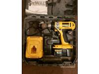 DEWALT XRP 18V DRILL WITH BATTERIES AND CHARGER