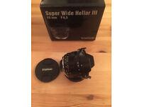 Voigtlander VM 15mm f4.5 Heliar III ASPH + Sony E adaptor **Mint**