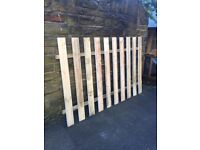 """Good """"NEW"""" wooden cheap paling fence panels 6x5 for collection to clear"""