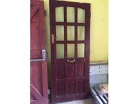 Glazed external hardwood door
