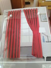 """Blackout eyelet curtains 66"""" wide 72"""" drop."""