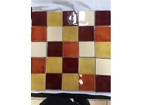 Fired Earth Artisan Wall Tiles - 25 in total